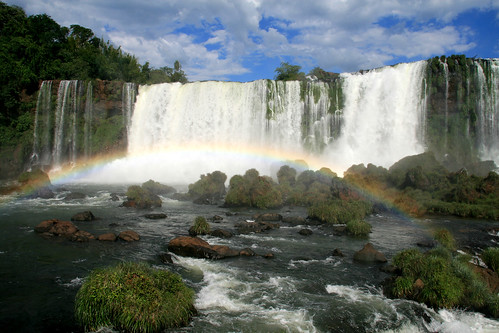 nature waterfalls Foz do Iguaçu Brazil Paraná rainbow Salto Santa Maria
