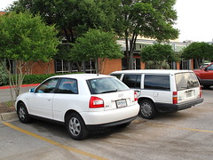 A rare first-gen Audi A3 in the US (rutlo) Tags: car austin texas plate license nuevoleon a3 audi rare hatchback 3door