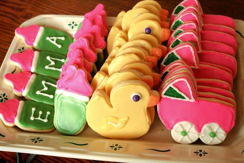 Platter of baby cookies.