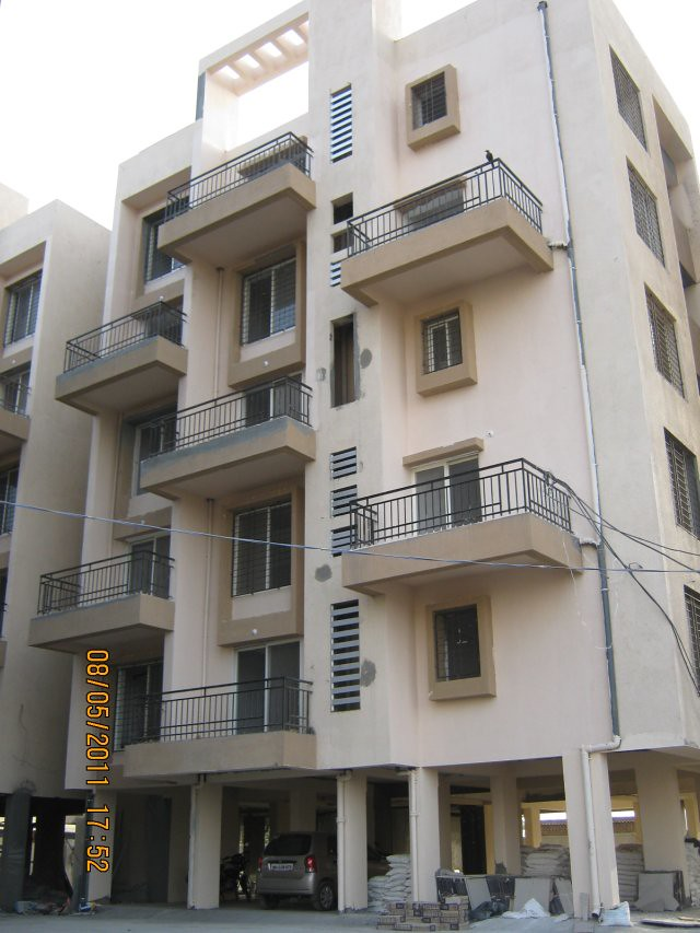 Available! 3 Ready Possession 2 BHK Flats on the 5 th floor of this building in Suyog Lucky Homes - 1 BHK 2 BHK 3 BHK Flats - near Moze College - Wagholi - Nagar Road - Pune