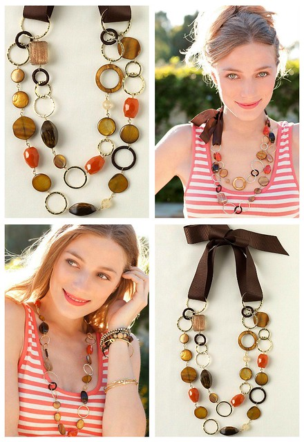 Stella & Dot Amanda Necklace collage