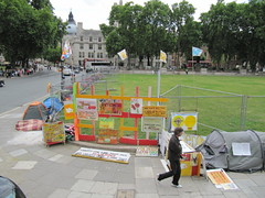 Peace protest camp in London