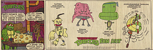 Teenage Mutant Ninja Turtles { newspaper strip } .. EXTRA CHEESE:: 06201993