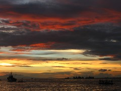 in the presence of a greater being (life begins with 4t) Tags: ocean travel sunset sea art nature water clouds canon photography bay boat ship philippines manila manilabay roxasblvd 4t top25redororange fortunatocsuarezjr