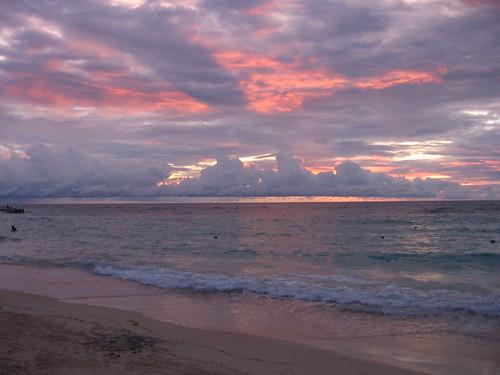 Sunset West Bay beach.