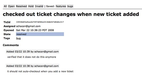 TicGitWeb Ticket
