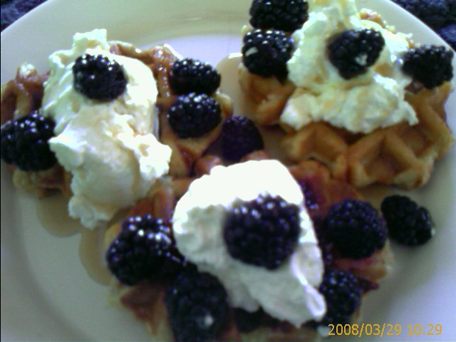 Blackberry Waffles