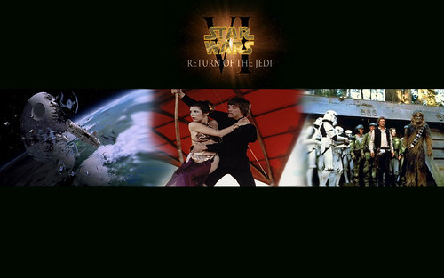 Star Wars episode 6, Return of the Jedi banner wallpaper, star wars wallpapers, starwars enterprise voyage