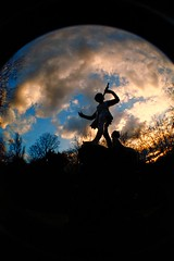 The World of Peter Pan (backfirecptn) Tags: park england sky fish london eye statue gardens lens britain peterpan fisheye hyde peter hydepark pan kensington wendy jm barrie supershot instantfave impressedbeauty aplusphoto envyofflickr reflectyourworld