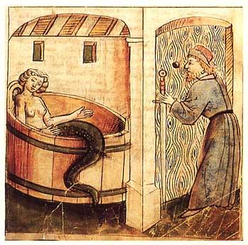 Melusina se baña