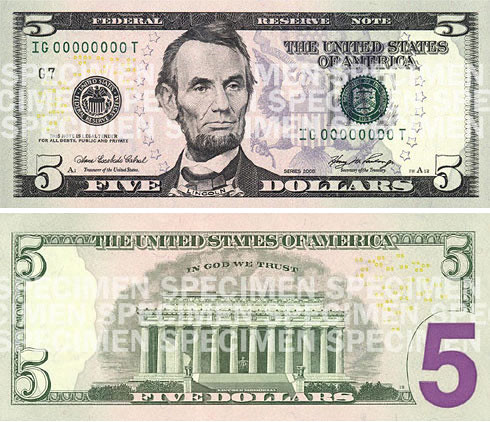 New $5 Bill Gets Purpler