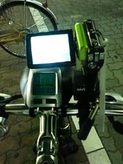 夜の自転車カメラ