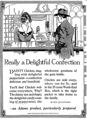Vintage Ad #541: Dainty Chiclets