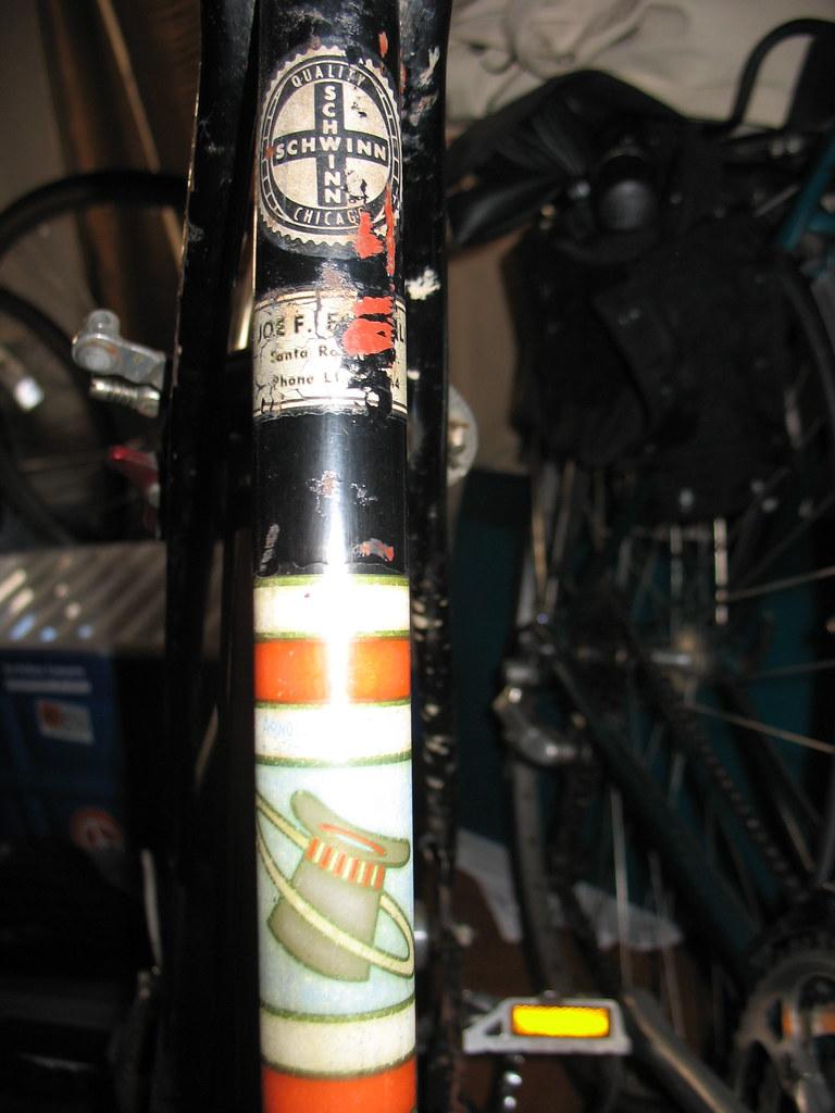 schwinn racer seat-tube