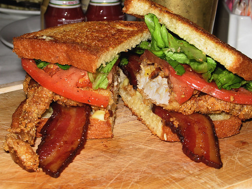 Fried Soft-Shell Crab BLT, close