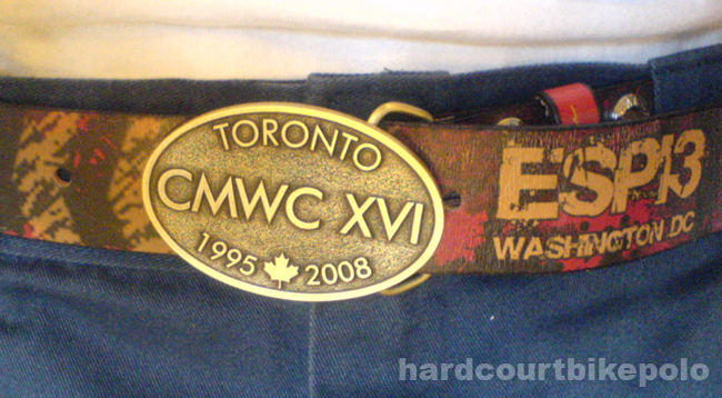 Toronto CMWC belt