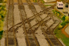 Interesting trackwork (slambo_42) Tags: railroad scale wisconsin model track ho wi waupaca dilojun08