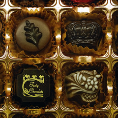 The tasty chocolate (jmvnoos in Paris) Tags: japan square gold golden nikon chocolate or chocolates d200 hirosaki choco japon chocolat chocos dor chocolats jmvnoos