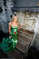 Jocelyn on the Stairs (James Ottaway) Tags: fashion rose glamour jocelyn desaturated portfolio lightroom fortlytton canon430ex strobist canonef2470f28lusm canoneos400d jamesottaway jamesottawaycom bnesa2 bnesa2jocelyn