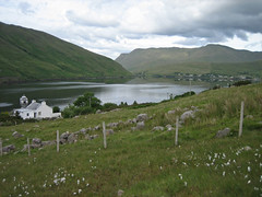 Leenane from Eddie's cottage (arripay) Tags: ireland white mountain mountains galway water harbor village harbour cottage eire connemara mayo leenane leenaun killary
