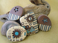Flower Power (julie_picarello) Tags: house yellow julie jewelry clay bead polymer gane mokume picarello