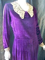 1920s Purple Velvet Dress