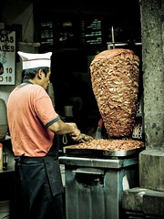 Taquero (El-Ivis) Tags: street trip red vacation portrait urban food nature ecology menu mexico mexicocity df scenery thing candid tacos centro stall things meat grill pork land northamerica environment pastor environmentalism appliance steaks zocalo appliances urbanlandscape ecosystem marinated taquero householdobjects trompo puerco barbequegrill bbqgrill pastpr