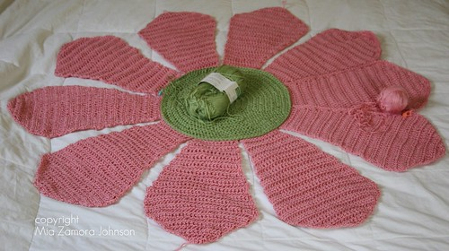 Flower Blanket- almost done