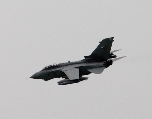 Jet flying over Caithness County Show