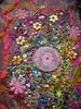 Detail Let them talk 5 (Karen Cattoire) Tags: original art colorful handmade embroidery originalart creation fabric fiberart beading textileart tissu abstrait textiledart karencattoire fibretextile arttexilte
