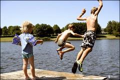 Summer ! (stuep jr. 2) Tags: summer lake color photoshop children child sommer sigma naturallight spielen 30mm weiswampach georgjacobs lifetravel