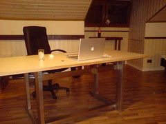 DSC00003 (Imakone) Tags: apple macintosh mac mightymouse appleremote applewirelesskeyboard macbook macbookpro sennheisercx300 selfmadedesk