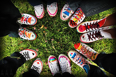 PimPed Converse (A.A.A) Tags: family friends summer green love grass by canon fun photography crazy shoes mark iii jeans converse pimp amna pimped eos1ds abdulaziz althani canoneos1dsmarkiii