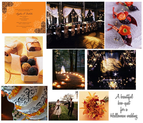 Black & Orange Fall Halloween Wedding