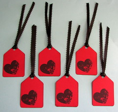 Stamped Heart Gift Tags
