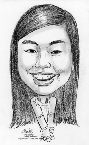 Caricature in pencil 03