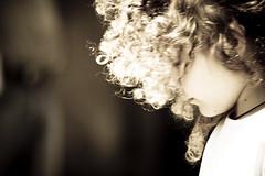 Honey curls (Eno83) Tags: portrait blackandwhite bw 350d child stolen blacknwhite eno83