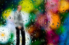 Bokeh man vs the colour wall (Mark Emirali) Tags: winter newzealand abstract blur colour rain canon weird drops bokeh vibrant auckland nz aotearoa merge bold kingsland 30d copyrighted canon30d fineartphotos pleasedonotusewithoutmypermission goldenbokeh maloe4 maloephoto maloephotography markemirali markemiraliphotography