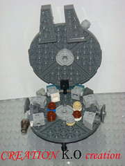 MOC Lego Star wars Mini 10179 Millennium Falcon (CREATION K.O Creation) Tags: star lego mini millennium falcon wars moc 10179
