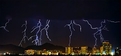 Flashes In The Pan (jimhankey) Tags: arizona sky cloud mountain storm mountains fall phoenix weather skyline skyscraper landscape skyscrapers desert cloudy scenic naturallight stormy valley monsoon vista thunderstorm lightning downtownphoenix 2008 dramaticsky beautifulview desertview eveninglight phoenixarizona beautifulscenery phoenixaz scenicview desertmountain maricopacounty nikond200 phoenixskyline unusuallight loweringsky loomingcloud dearflickrfriend uptownphoenix jimhankey arizonaweather phoenixweather phoenixariz arizonafall