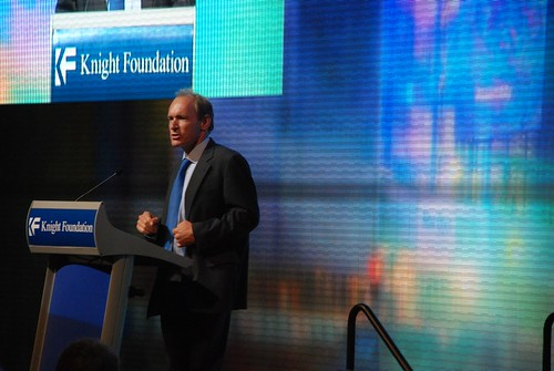 Sir Tim Berners-Lee talking about naming the Web at the Knight dinner at the Newseum