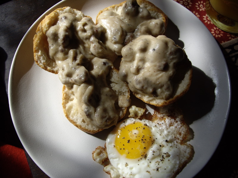My 2nd attempt at biscuits & gravy