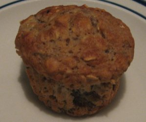 Chunky Orchard Fruit Oatmeal muffin