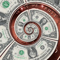 dollar$ and ents (fpsurgeon) Tags: bear money loss price spiral coin unitedstates cent cost bank cash drain american penny dollar tax value escher financial economy currency income crisis banking nyse finance revenue mortgage debt droste monetary stockmarket lending dowjones federalreserve fanniemae expense ingodwetrust djia foreclosure bailout mathmap interestrate freddiemac stimulusbill