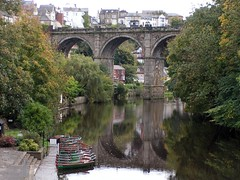 Rowing boats under the Viaduct
