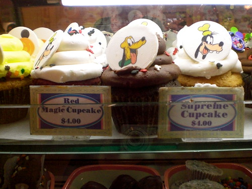 Disneyland Cupcakes - red magic and supreme cupcakes - pluto