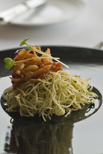 Capellini With Deep-fried Sakura Ebi