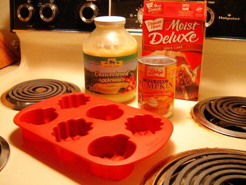 Ingredients for Pumpkin Spicecake
