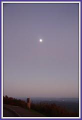 NC - Blue Ridge Parkway - The Moon at the Elk Mountain Overlook (scott185 (the original)) Tags: sunset nc northcarolina blueridgeparkway yadkinvalley elkmountainoverlook milepost2743