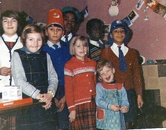 Christmas in the Children's Home - who can muck up the photo for fun? (theirhistory) Tags: christmas xmas boy party game girl hat shirt toy cards holidays child dress room tie chapel orphanage indoors presents jumper christmascards nch smock childrenshome tommyjohnson philiphoward noelbrown sallyjones philliphoward paulinejones lentonvalero